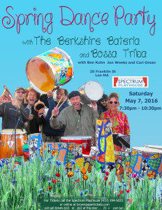 Spring Dance Party with Berkshire Bateria @ Spectrum Playhouse |  |  |